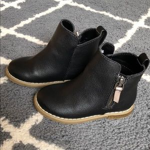 Gap Toddler Black Moto Ankle Boots Size 7
